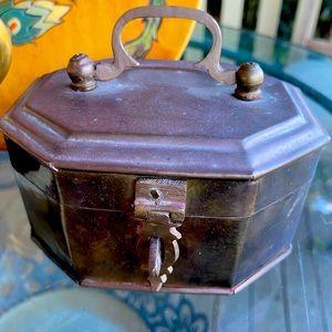 Vintage Brass Lidded Box